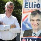 UUP candidate for Fermanagh and South Tyrone Tom Elliott on the campaign trail in Dungannon