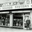 Harry Baird outside the music shop he opened on Belfast's York Street