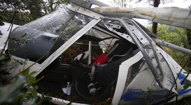 The cockpit of the crashed plane in Castlewellan Forest Park