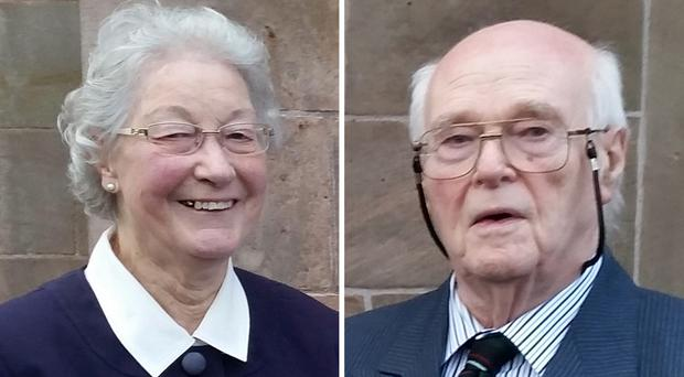 Marjorie Cawdery (left) and Michael Cawdery, both 83, were found dead in their own home