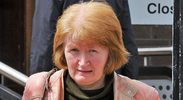 Caroline Baker pictured leaving Craigavon courthouse in April. [Photo: Photopress Belfast]