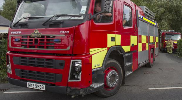 Northern Ireland Fire and Rescue Service said by the time the first crew arrived the blaze was well developed