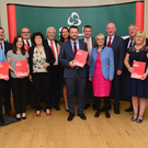 Party members launch their election manifesto yesterday