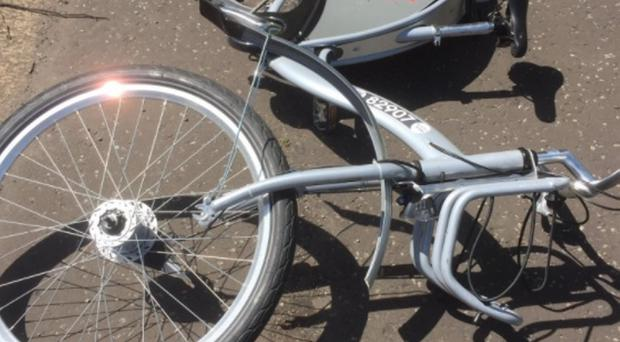 The rented bike, which was discovered to have had bolts removed from its frame