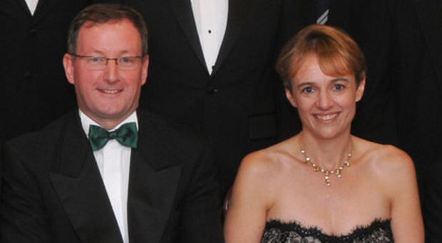 Professor Patrick Johnston with his wife, Iseult