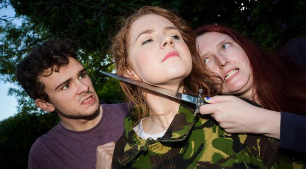 Tanja Jennings, Ben Smith and Aimee McGoldrick in the controversial image