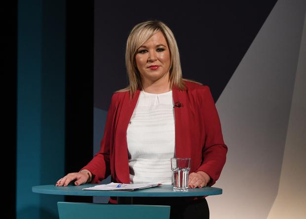 Sinn Fein's leader in Northern Ireland Michelle O'Neill during the UTV debate