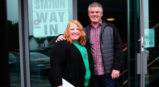 Alliance leader Naomi Long and her husband Michael