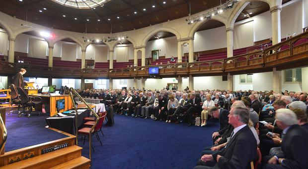 Delegates at this year's General Assembly of the Presbyterian Church in Ireland