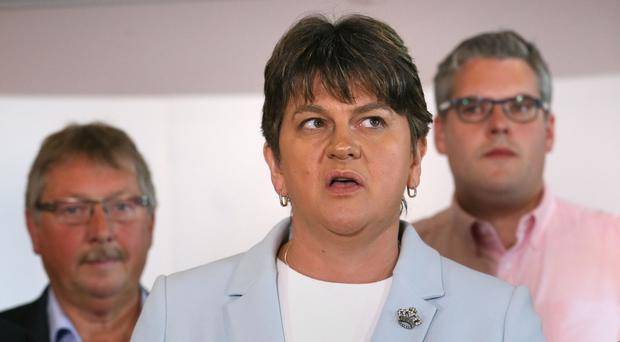 DUP leader Arlene Foster speaks in Belfast