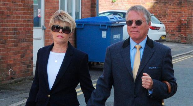The Wadsworths arrive at court yesterday