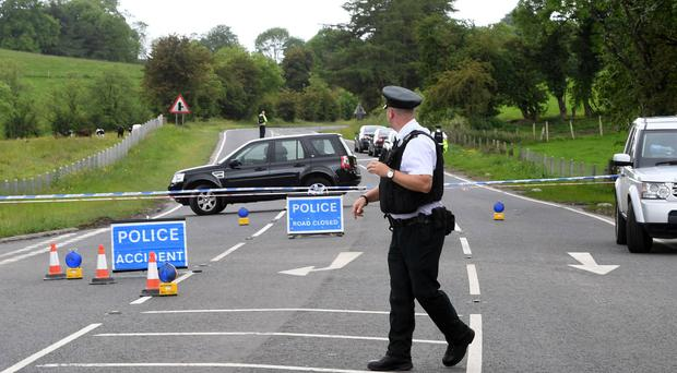 The scene of the accident in Clogher in which Amanda Kelly died