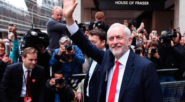 Labour Leader Jeremy Corbyn leaves Labour headquarters yesterday