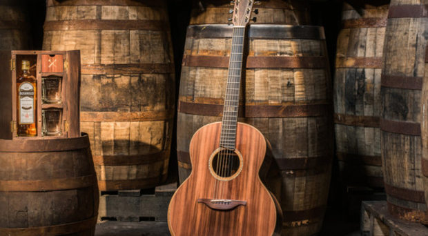 A guitar made from Bushmills' barrels by Lowden Guitars, who count Snow Patrol's Gary Lightbody as a customer