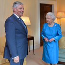The Queen with then First Minister Peter Robinson