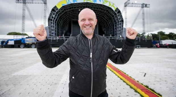 Music promoter Alan Simms at the new venue for Belsonic at Ormeau Embankment