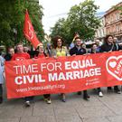 Campaigners yesterday announced a march in Belfast to demand equal marriage legislation for Northern Ireland