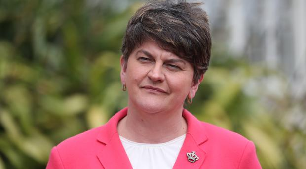 DUP head arrives for talks with UK leader May