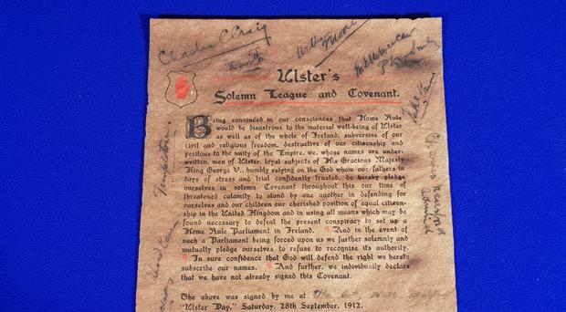 The Ulster Covenant for auction