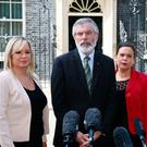 Michelle O'Neill, Gerry Adams; Mary Lou McDonald and Elisha McCallion of Sinn Fein