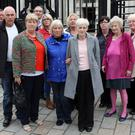 The family of Daniel Hegarty, including sisters Margaret Brady, Catherine Devenney and Philomena Conlaghan, at the High Court yesterday
