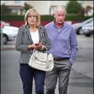Sean McGrotty's brother Jim and his wife Faye arriving at the preliminary hearing into the Buncrana pier tragedy at the Inishowen Gateway Hotel in Buncrana, Co Donegal