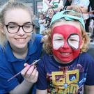 Enjoying the Belfast Titanic Maritime Festival at the weekend were (left) face-painter Nikita Thompson and David Brown (5)