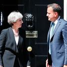 Prime Minister Theresa May holds talks with Leo Varadkar on his first visit to Downing Street as Taoiseach