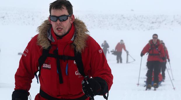 Duncan Slater was the first double amputee veteran to race to the South Pole