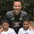 Brogan and Brae Sewell with John Terry