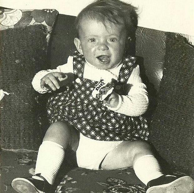 A childhood photograph aged 18 months