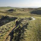 Barbury Castle is an Iron Age hill fort on the Ridgeway near Swindon in Wiltshire