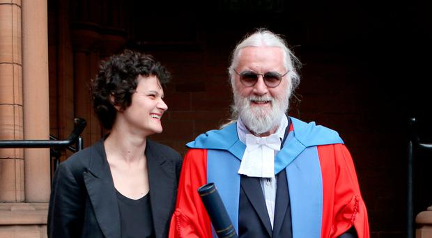 Sir Billy Connolly, with daughter Cara, after he received his Honorary Doctorate degree from the University of Strathclyde
