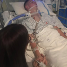 Jamie Lindsay in hospital