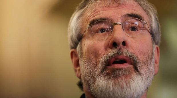 Sinn Fein leader Gerry Adams claimed the Tory-DUP deal provided a blank cheque for a Tory Brexit which threatens the Good Friday Agreement