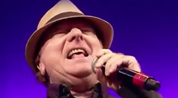 Van Morrison takes to stage at the service in Los Angeles