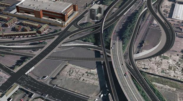 An artist's plan for the new-look York Street interchange