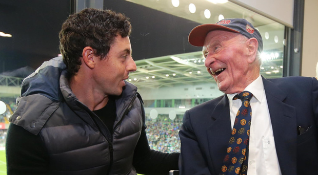 Rory McIlroy with Harry Gregg