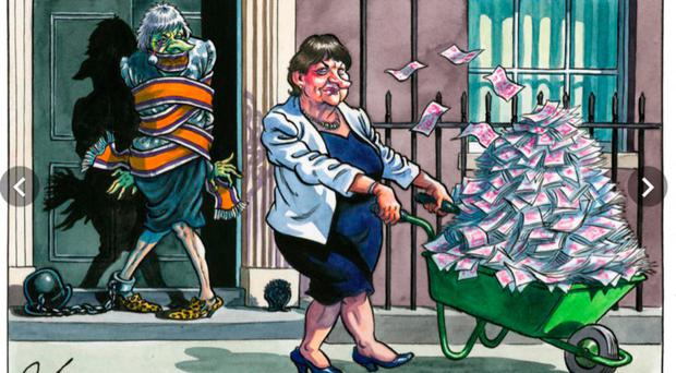 Some examples of the cartoons that have appeared in the Press and social media - Guardian