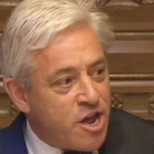 Commons Speaker John Bercow told MPs he had selected three amendments to the Government's legislative programme