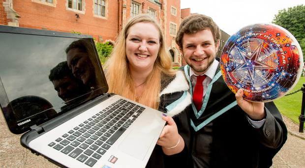 Ryan and Shona Morrison are graduating from Queen's University in Belfast