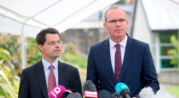 Northern Ireland Secretary James Brokenshire (left) and the Republic's foreign affairs minister, Simon Coveney