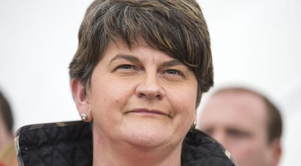 DUP leader Arlene Foster at Stormont Castle