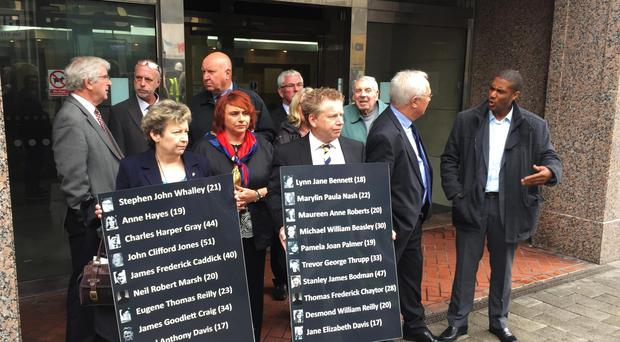 Members of the Birmingham pub bombings campaign group, Justice4the21