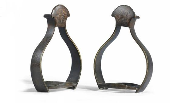 The stirrups worn by King Billy at the Battle of the Boyne