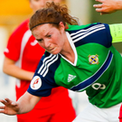 Marissa Callaghan in action for Northern Ireland against Georgia last year