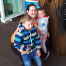 Jolene O'Hagan with their children Alfie and Theo