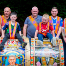 (L-R) Jonathan Russell with his father, Ivan, and his son, Craig (6) , and Paul Larmour, with his grandson, Joel (3) and his sons, Andrew and David