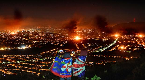View from the hills above the city on Tuesday night