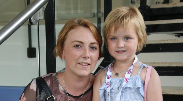 Claire McCallum with her daughter Lily (3) from Glasgow